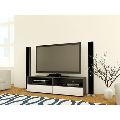Allure 60-inch TV Stand with 2 open spaces; 2  drawers from Nexera