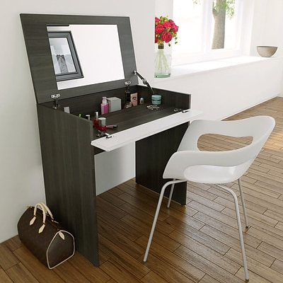 Allure Vanity with Enclosed Storage and Mirror from Nexera