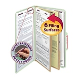 Smead® Pressboard Classification File Folder with SafeSHIELD® Fasteners, 2 Dividers, 2 Exp., Legal,
