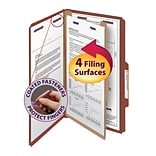 Smead® Pressboard Classification File Folder with SafeSHIELD® Fasteners, 1 Divider, 2 Exp., Legal,