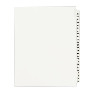 Avery(R) Standard Collated Legal Dividers Avery Style 1331, Letter Size, 26-50 Tab Set