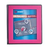 Avery Ultralast Binder with 1 One Touch Slant Rings, Pink (79743)