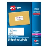 Avery(R) White Shipping Labels 95945, 2 x 4, Pack of 2500