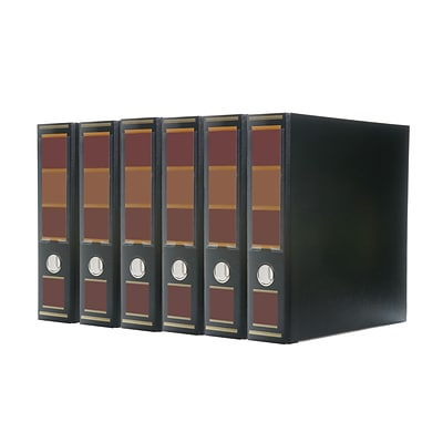 Bindertek 3-Ring 3-Inch Premium Binder 5-Pack, Barrister Black (3EFPACK-BB)