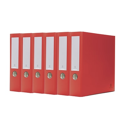 Bindertek 3-Ring 3-Inch Premium Binder 5-Pack, Red (3EFPACK-RD)
