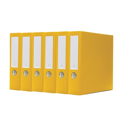 Bindertek 3-Ring 3-Inch Premium Binder 5-Pack, Yellow (3EFPACK-YE)