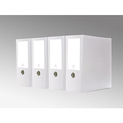 Bindertek 3-Ring 4-Inch Premium High Capacity Binder 4-Pack, White (3XLPACK-WH)