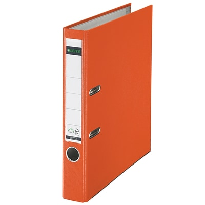 Leitz 2-Ring 2-Inch Premium A4 Sized European Binders, Orange (1015-OR)