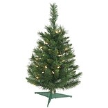 Vickerman Imperial Pine 2.5 Green Artificial Christmas Tree w/ 50 Lights w/ Stand; Multi