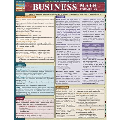 BarCharts, Inc., QuickStudy® Business & Math Formulas Reference Set (9781423231417)