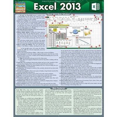 BarCharts, Inc., QuickStudy® Microsoft Excel 2013 Reference Set (9781423230229)