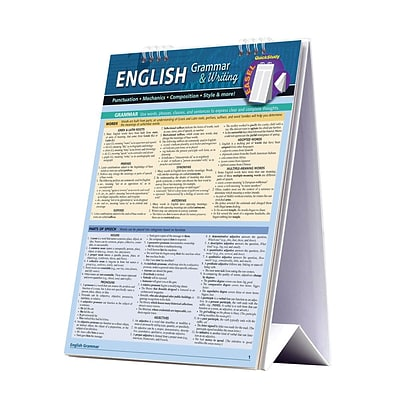 BarCharts, Inc. QuickStudy® English Easel Reference Set (9781423230564)