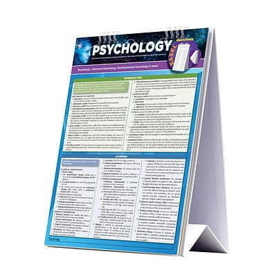 BarCharts, Inc. QuickStudy® Psychology Easel Reference Set (9781423230571)