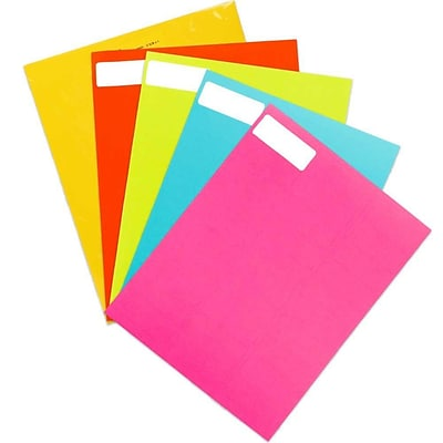 JAM Paper® Mailing Address Labels, 1 x 2 5/8, Assorted Bright Colors, 600/Pack (30272ASST12)