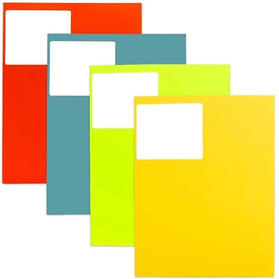 JAM Paper® Mailing Address Labels, 3 1/3 x 4, Assorted Colors, 4 packs of 120, 480/set (30272ASST34)