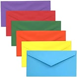 JAM Paper® Monarch Envelopes, 3 7/8 x 7 1/2, Brite Hue Assorted, 150/pack (3409BRORGPY)