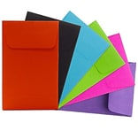 JAM Paper® #1 Coin Envelopes, 2.25 x 3.5, Brite Hue Assorted, 150/pack (3523ASSRTD)