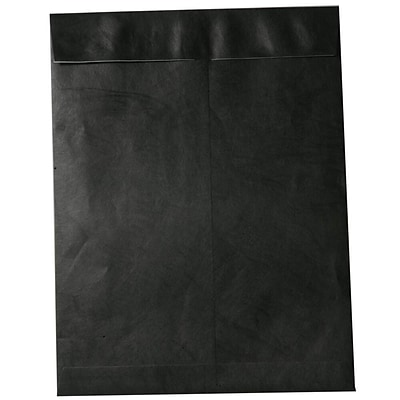 JAM Paper® 11.5 x 14.5 Tyvek Envelopes, Open End Catalog with Self Adhesive Closure, Black, 10/pack (V021386B)
