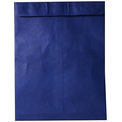 JAM Paper® 10 x 13 Tyvek Envelopes, Catalog Open End with Self Adhesive Closure, Blue, 10/pack (V021377B)