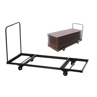 Correll® Flat Stacking Table Truck; 12-16 Rectangular Table Capacity Up To 90 Long