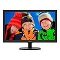 Philips 223V5LSB/27 V-line 21.5 1080p Full HD LED-Backlit LCD Monitor; Textured Black/Black Hairlin