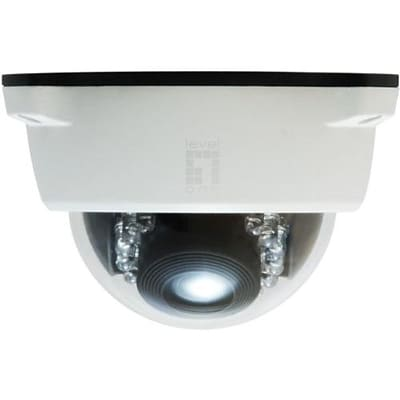 LevelOne® FCS-4102 2MP Wired PT Dome IP Network Camera, Motion Detection, White
