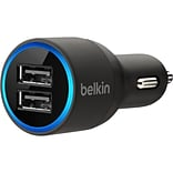 Belkin 10W Mini Dual Car Charger; Black (F8J109BTBLK)