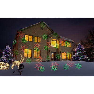 Starscapes Laser Motion Projection Lights, Red & Green Dots & Snowflakes