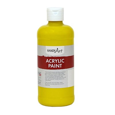 Handy Art® Student Acrylic Paint, Chrome Yellow, Certified Non-Toxic & Gluten-Free, 16oz (RCP101010)