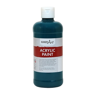 Handy Art® Student Acrylic Paint, Phthalo Green, Certified Non-Toxic & Gluten-Free, 16oz (RCP101050)