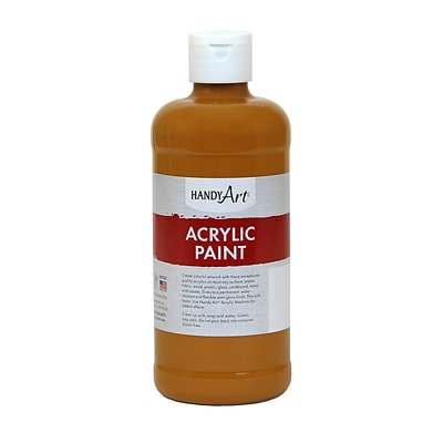 Handy Art® Student Acrylic Paint, Raw Sienna, Certified AP Non-Toxic & Gluten-Free, 16oz (RCP101093)