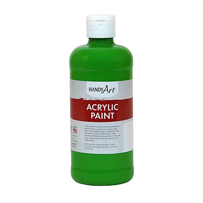 Handy Art® Student Acrylic Paint, Light Green, Certified AP Non-Toxic & Gluten-Free, 16oz RCP101110