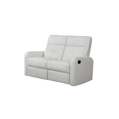 Monarch Specialties 50L White Reclining 2 Piece Loveseat ( I 85WH-2 )
