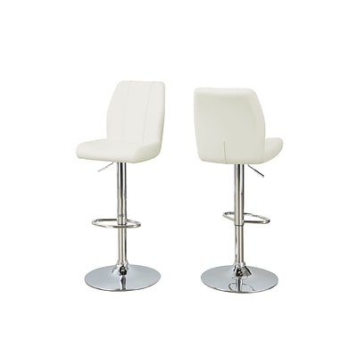 Monarch Specialties 26-30H White 2pcs Barstool ( I 2338 )