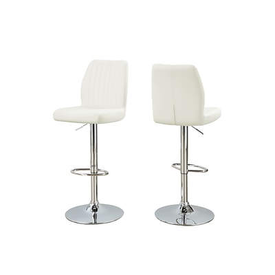Monarch Specialties 26-31H White 2pcs Barstool ( I 2370 )