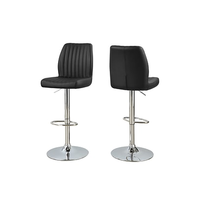 Monarch Specialties 26-31H Black 2pcs Barstool ( I 2371 )