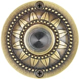 Waterwood Hardware Solid Brass Pearl Bloom Doorbell