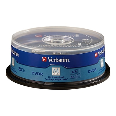 Verbatim® DVDR 4.7GB 4X with Branded Surface Jewel Case