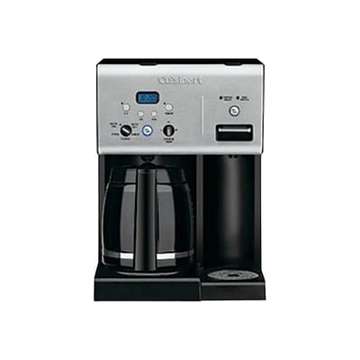 Cuisinart CHW-12 Coffee Plus 12 Cups Automatic Drip Coffee Maker, Black/Stainless (CHW12)