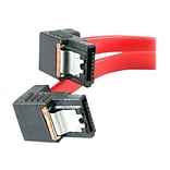 StarTech 1.5 Right Angle Latching SATA Cable; Red