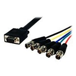 Comprehensive® Pro AV/IT Series 1 HD-15 VGA/BNC Jacks Male/Female Video Cable; Black