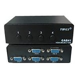 4XEM™ 4 Port 250 MHz VGA/SVGA Manual Switch; Black
