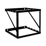 Tripp Lite SmartRack 12U Wall Mount Heavy-Duty Low-Profile 2-Post Open Frame Rack; Black (SRWO12UHD)