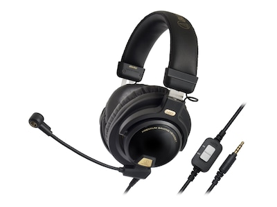 Audio Technica ATH PG1 Over the Head Dynamic Premium Stereo Gaming Headset with Microphone