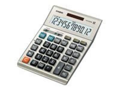 Casio (r) DM 1200BM 12 Digit Extra Large Display Simple Calculator; Gray