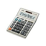 Casio ® DM-1200BM 12 Digit Extra Large Display Simple Calculator; Gray