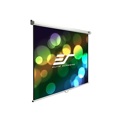 Elite Screens Manual B Pull Down Projector Screen; 120 degree