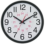 14 DST  24-Hour Black Wall Clock (TC7905B)