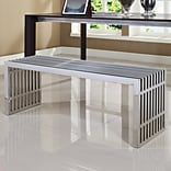 Modway Gridiron Stainless Steel Bench; Large