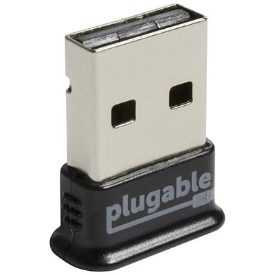 Plugable (USB-BT4LE) Bluetooth 4.0/USB 2.0 External Wireless Adapter; Black